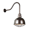 This item: Deep Bowl Shade Oil Rubbed Bronze QSNHL-H Arm 12-Inch Outdoor Wall Mount with Wire Guard