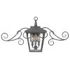 This item: Trellis Aged Zinc Three-Light Outdoor Wall Mount