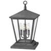 This item: Trellis Aged Zinc Four-Light LED Outdoor Pier Mount