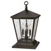 This item: Trellis Regency Bronze Four-Light LED Outdoor Pier Mount