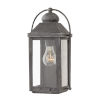 This item: Anchorage Aged Zinc One-Light Outdoor Wall Mount
