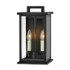 This item: Weymouth Black 14-Inch Two-Light Outdoor Wall Mount