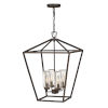 This item: Alford Place Oil Rubbed Bronze Four-Light Outdoor Chandelier