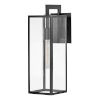 This item: Max Black 19-Inch One-Light Outdoor Wall Mount
