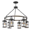 This item: Lakehouse Aged Zinc Six-Light Outdoor Chandelier