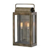 This item: Sag Harbor Burnished Bronze Two-Light Outdoor Wall Mount With Clear Glass