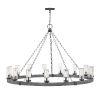 This item: Sawyer Aged Zinc 15-Light Outdoor Chandelier