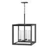 This item: Rhodes Brushed Graphite Four-Light LED Outdoor Pendant