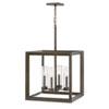 This item: Rhodes Warm Bronze Four-Light LED Outdoor Pendant