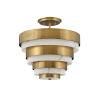 This item: Echelon Heritage Brass Three-Light Semi-Flush Mount