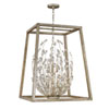This item: Loren Silver Leaf Six-Light Chandelier