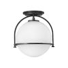 This item: Somerset Black One-Light Semi-Flush Mount
