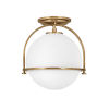 This item: Somerset Heritage Brass One-Light Semi-Flush Mount