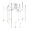 This item: Nula Shell White 12-Light Chandelier