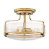 This item: Harper Heritage Brass 15-Inch Three-Light Semi Flush Mount