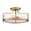 This item: Harper Heritage Brass 18-Inch Three-Light Semi Flush Mount