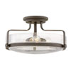 This item: Harper Oil Rubbed Bronze 18-Inch Three-Light Semi Flush Mount
