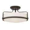 This item: Harper Oil Rubbed Bronze 18-Inch LED Semi-Flush Mount