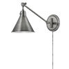 This item: Arti Polished Antique Nickel Eight-Inch One-Light Wall Sconce