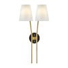 This item: Aston Heritage Brass Two-Light Wall Sconce