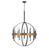This item: Wells Weathered Brass 12-Light Chandelier