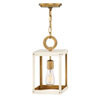 This item: Porter Heritage Brass and White Seven-Inch One-Light Mini Pendant