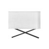 This item: Axis Black Two-Light LED Wall Sconce with Off White Linen Shade