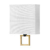 This item: Link Black One-Light LED Wall Sconce with Off White Linen Shade