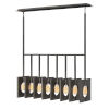 This item: Ludlow Brushed Graphite Eight-Light Chandelier