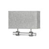 This item: Luster Brushed Nickel Two-Light LED Wall Sconce with Heathered Gray Slub Shade