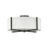 This item: Axis Black Three-Light LED Semi-Flush Mount with Off White Linen Shade