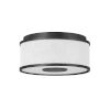 This item: Halo Black Two-Light LED Flush Mount with Off White Linen Shade