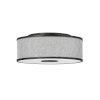 This item: Halo Black Three-Light LED Flush Mount with Heathered Gray Slub Shade