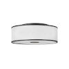 This item: Halo Black Four-Light LED Flush Mount with Off White Linen Shade