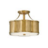 This item: Chance Heritage Brass Two-Light Semi-Flush Mount