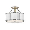 This item: Chance Polished Nickel Two-Light Semi-Flush Mount