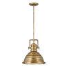 This item: Keating Heritage Brass One-Light Pendant