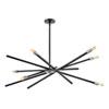 This item: Archer Satin Black 42-Inch Six-Light Chandelier