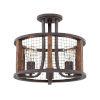This item: Beckett Iron Rust Three-Light Semi-Flush Mount