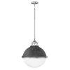 This item: Fletcher Aged Zinc with Polished Nickel Two-Light Pendant