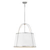 This item: Clarke Polished Nickel Four-Light Chandelier