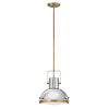 This item: Nautique Heritage Brass 13-Inch One-Light Pendant