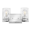 This item: Miley Chrome Two-Light Bath Vanity