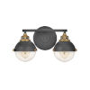 This item: Fletcher Black Two-Light Bath Vanity