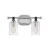 This item: Halstead Chrome Two-Light Bath Vanity With Clear Glass