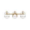 This item: Somerset Heritage Brass Three-Light Bath Vanity