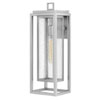 This item: Republic Satin Nickel One-Light Outdoor Large Wall Mount