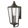 This item: Jaymes Oil Rubbed Bronze Three-Light Outdoor Large Wall Mount
