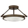 This item: Collier Light Oiled Bronze 17-Inch LED Semi-Flush Mount