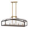 This item: Clarendon Bronze Five-Light Linear Pendant